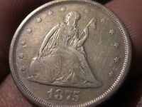 1875 S TWENTY CENT PIECE  20 CENTS   VF   SILVER TYPE COIN