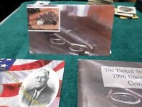 1996 UNCIRCULATED US MINT COIN SET WITH COA AND 50TH ANNIVER