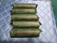 5 FULL ROLLS  250  OLD US SILVER DIMES 90   SILVER COINS INV