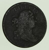 1807 DRAPED BUST HALF CENT - CIRCULATED 8692