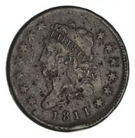 1811 CLASSIC HEAD LARGE CENT - CIRCULATED 1253