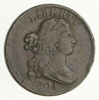 1804 DRAPED BUST HALF CENT - PLAIN 4, NO STEMS - CIRCULATED 4053