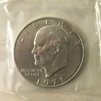 1971 EISENHOWER UNCIRCULATED SILVER DOLLAR 40 SILVER..TREASURY DEPARTMENT