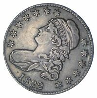 1832 CAPPED BUST HALF DOLLAR - O-102A - CIRCULATED 0361