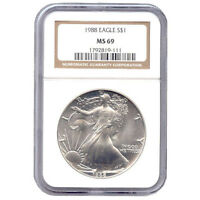 CERTIFIED UNCIRCULATED SILVER EAGLE 1988 MINT STATE 69