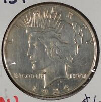 1934 $1 PEACE DOLLAR ABOUT UNCIRCULATED 179125