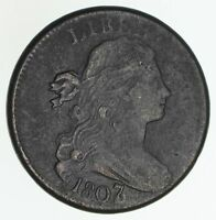 1807/6 DRAPED BUST LARGE CENT - LARGE 7 - CIRCULATED 6035