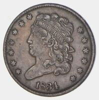 1834 CLASSIC HEAD HALF CENT - CIRCULATED 5699