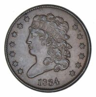 1834 CLASSIC HEAD HALF CENT - CIRCULATED 8206