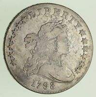 1798 DRAPED BUST DOLLAR - HERALDIC EAGLE REVERSE - CIRCULATED 0425
