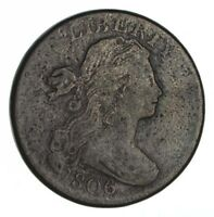 1806 DRAPED BUST LARGE CENT - CIRCULATED 1342