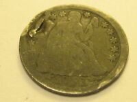 1853-P ARROWS SEATED LIBERTY DIME