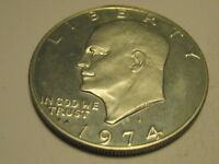 1974-S 40 SILVER PROOF EISENHOWER DOLLAR WAS IN BROWN BOX