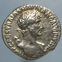 HIGH GRADE EARLY HADRIAN DENARIUS   PAX STANDING FROM 117 AD