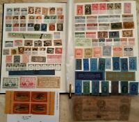OLD ESTATE STOCKBOOK U.S. COLLECTION LOT 1860'S TO WWII; HUNDREDS OF OLD STAMPS