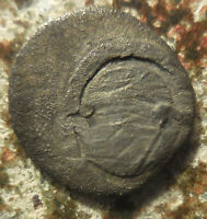 SILVER OBOL OF BOEOTIA TANAGRA EARLY MID 4TH CENTURY BC: SHIELD / HORSE