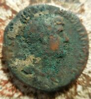 HERE IS A HADRIAN AS COIN YOU CAN PROBABLY CLEAN UP IF YOU ARE PATIENT: 27 MM