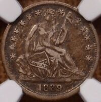1839 SEATED HALF DIME NGC VF30 CRUSTY ORIGINAL AND XF    DAVIDKAHNCOINS