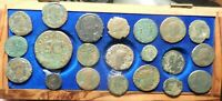 3 DAY ONLY LISTING  LOT OF 21 ANCIENT ROMAN COINS FINE TO VF  AUGUSTUS