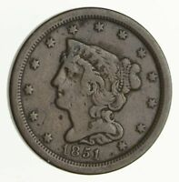 1851 BRAIDED HAIR HALF CENT - CIRCULATED 4064