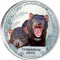 2013 TASMANIAN DEVIL ENDANGERED EXTINCT  TUVALU 1 OZ FINE SI