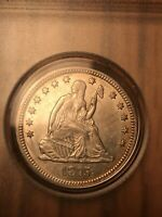 1875 P 25 CENT LIBERTY SEATED MINT STATE