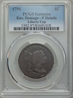 1796 LIBERTY CAP , NGC GRADED FINE DETAILS, GOOD DATE