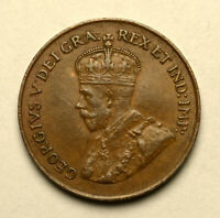 1921 CANADA KGV SMALL 1 CENT HIGH GRADE EXCELLENT DETAILS