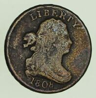 1808 DRAPED BUST HALF CENT - CIRCULATED 8685