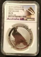 2017 P AUSTRALIA WEDGE TAILED EAGLE NGC FIRST RELEASES MS70