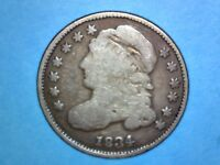CAPPED BUST DIME - 1834 - KM 48 - 0.900 SILVER - LARGE 4