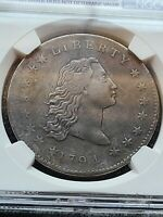 1794 FLOWING HAIR DOLLAR, NGC VF DETAILS B-1 BB-1 R-4  , PROVENANCE 1885