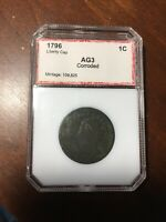 1796 LIBERTY CAP LARGE CENT, PCI GRADED