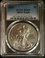2019 $1 1OZ AMERICAN SILVER EAGLE - PCGS MINT STATE 69