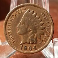 1904 INDIAN HEAD PENNY    FINE DETAIL   57