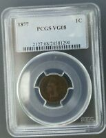 1877 INDIAN HEAD CENT PCGS VG08 COMPLETE YOUR SET WITH A NAME YOU CAN TRUST