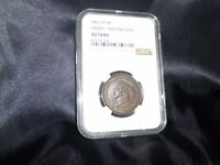 LIBERTY - 1841-HT - 58 - NOT ONE CENT - AU 58 BN - NGC GRADED