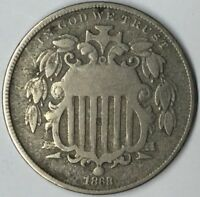 1868 5C SHIELD NICKEL VG UNCERTIFIED