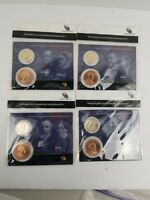 2011 PRESIDENTIAL DOLLARFIRST SPOUSE MEDAL SET-JOHNSON, GRANT, HAYES, GARFIELD