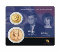 2X2015 PRESIDENTIAL DOLLAR AND FIRST SPOUSE MEDAL SET JOHN AND JACQUELIN KENNEDY