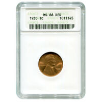 CERTIFIED LINCOLN CENT 1930 MINT STATE 66 RED ANACS