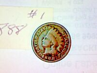 1888 INDIAN HEAD CENT LOT 1