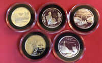 5 SILVER 2002 S PROOF DEEP CAMEO STATE QUARTERS WITH MIRROR FINISH IN HOLDER