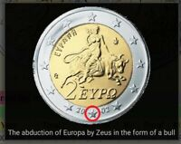 2 EURO COIN GREECE 2002 WITH AN S IN TO THE STAR.