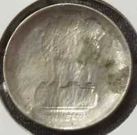INDIA OLD RS.5/  CU/NI COIN OBVERSE BROCKAGE ERROR