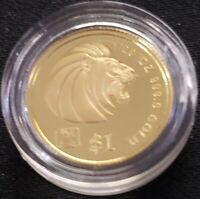 SINGAPORE 1999 YEAR OF RABBIT WITH PRIVY MARK 1/20 OZ .9999