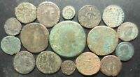 LOT OF 17 VF ANCIENT ROMAN COINS: AUGUSTUS AS HADRIAN SESTERTIUS COMMODUS