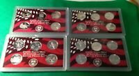 LOT OF FOUR  4  MODERN SILVER PROOF STATE QUARTER SETS NO BOXES