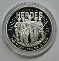 HEROES SERIES SDWC D DAY 1 OZ .999 SILVER ROUND USA MADE WWII BULLION COIN