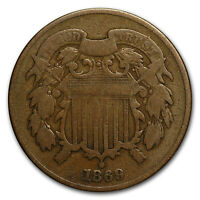 1869 TWO CENT PIECE VG - SKU7985